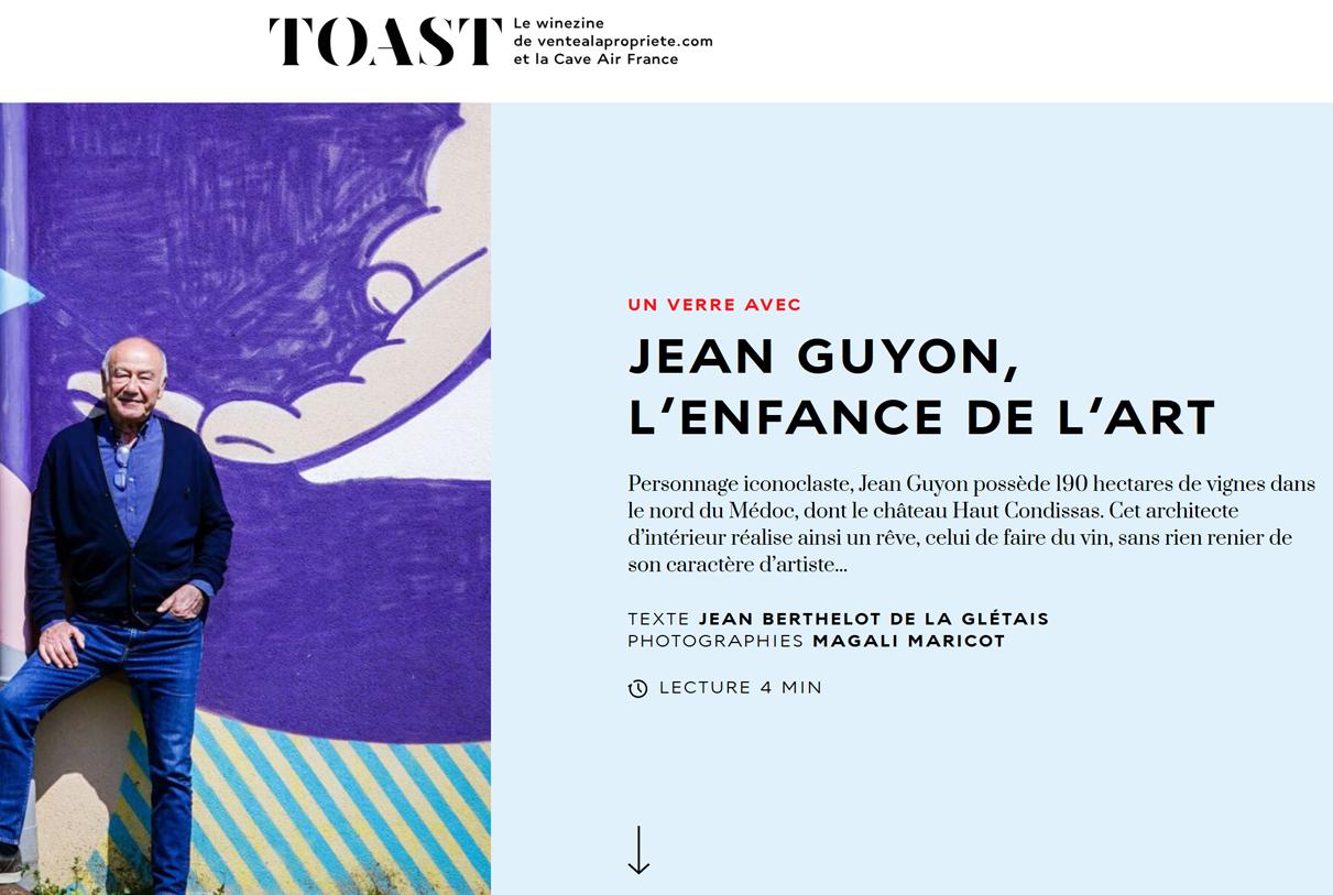 Toast – Jean Guyon, l'enfance de l'art